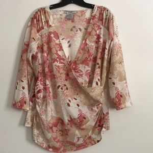 Nine west 3/4 sleeves blouse size 1X
